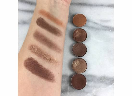 MAC eyeshadow swatches