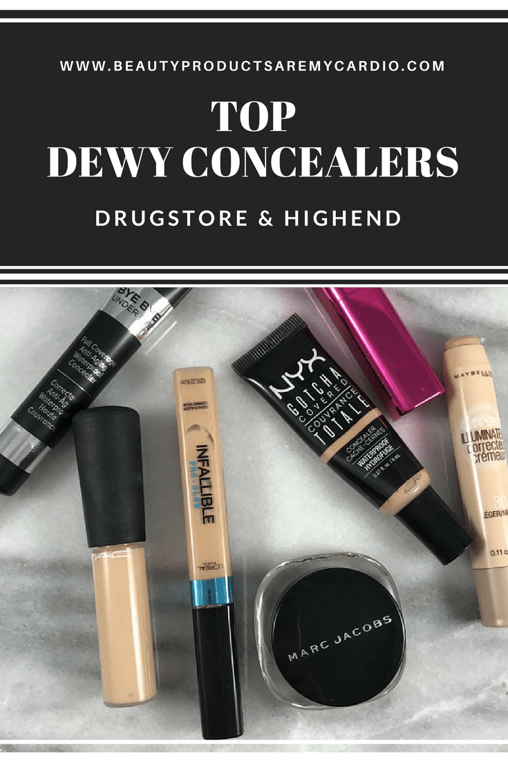 TOP DEWY CONCEALERS: Drugstore & High End