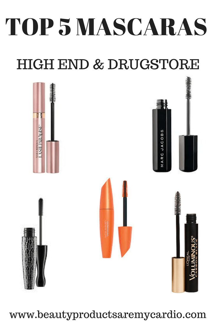 TOP 5 MASCARAS: High End & Drugstore