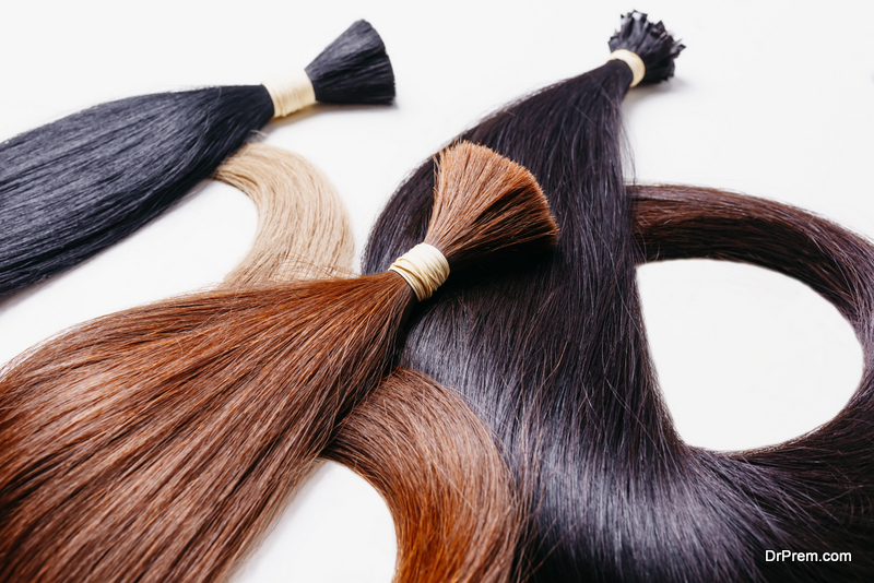separate the hair from hair extension