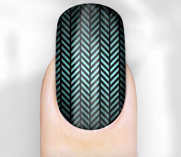 Patterned nail wrap