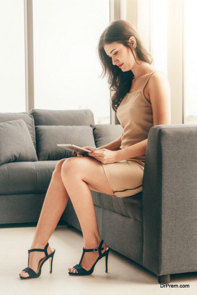 woman in Comfortable High Heels