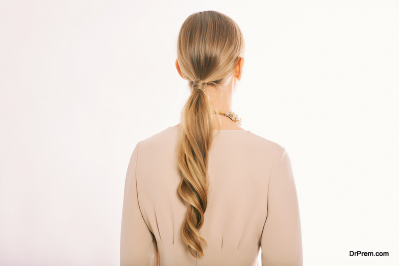 Loose and Low Ponytail