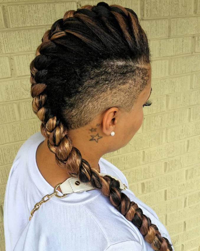 mohawk braids: 12 braided mohawk hairstyles that get attention