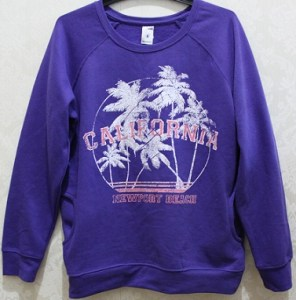 Purple Sweat Top - Polyester/Cotton AUD$4