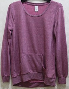 Maroon/Magenta Sweat Top - Polyester/Viscose AUD$4