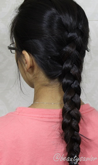 Braided Updo for Long Haul Flights