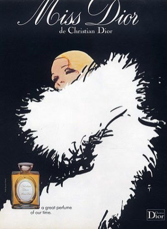 Una pubblicità del 1978 dell'illustratore René Gruau