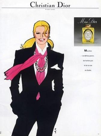 Una pubblicità del 1981 dell'illustratore René Gruau