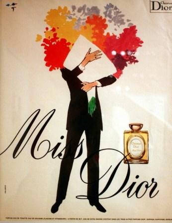 Una pubblicità degli anni '70 dell'illustratore René Gruau