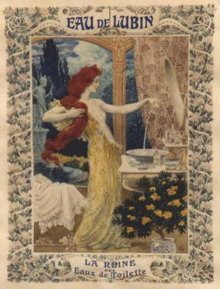 Manifesto pubblicitario del 1897 dell'Eau di Lubin