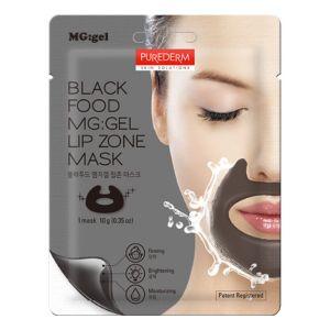Гелевая маска для зоны губ с компонентами черных продуктов «Purederm»