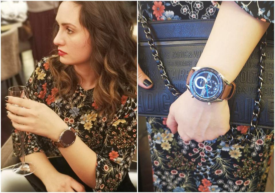 жена със смарт часовник huawe watch gt.