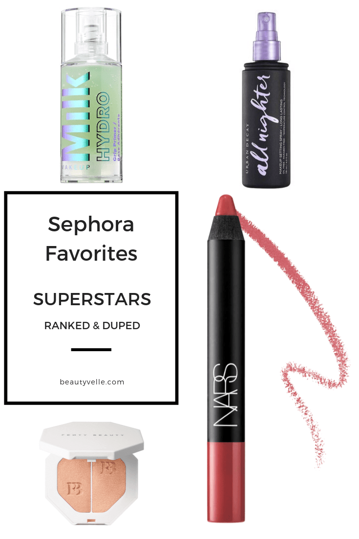 Ranked and Duped! Sephora Favorites Superstars