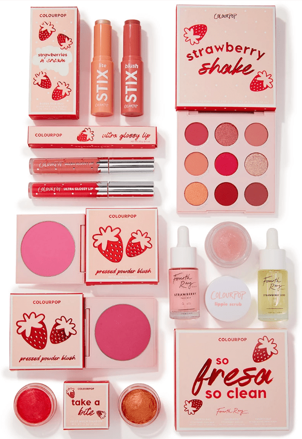 Every Colourpop Makeup Release in 2019 Strawberry Shake It's My Pleasure Orange You Glad Velvet Blur Lux Lipsticks