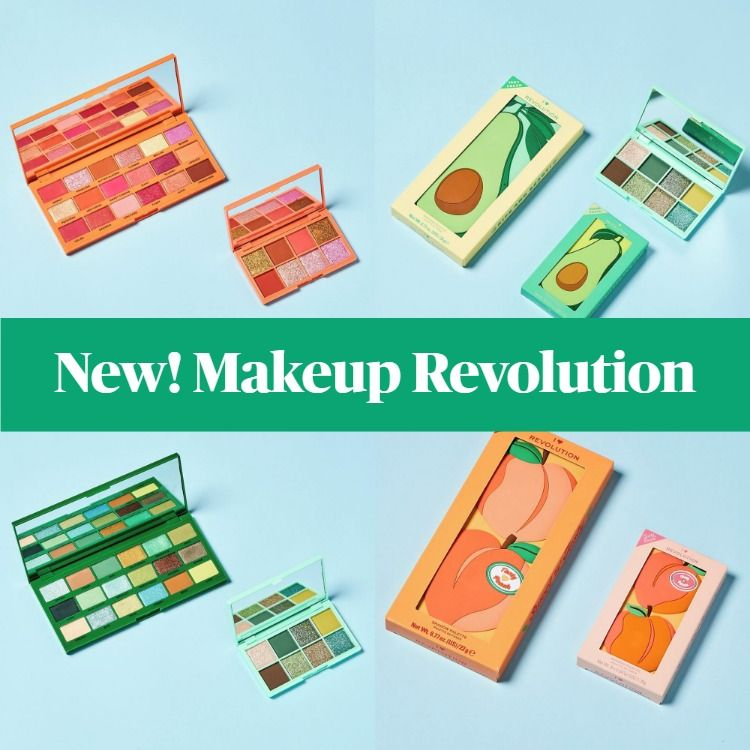 New! Makeup Revolution Tasty Shadow Peach and Avocado Palettes
