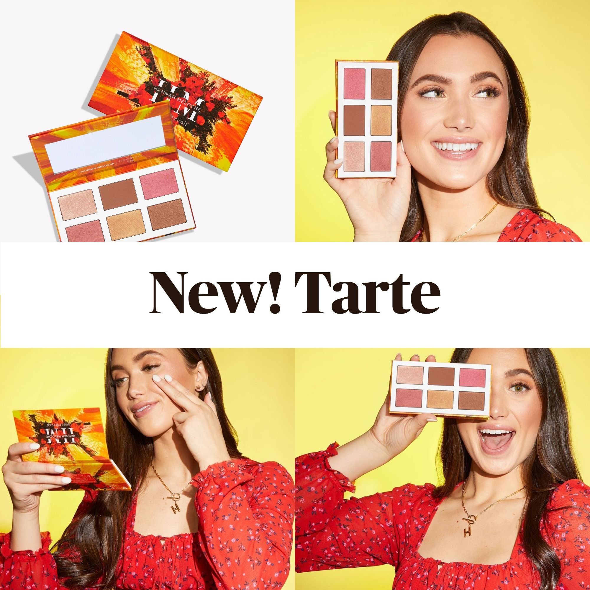 New! Tarte Cosmetics Hannah Meloche x Sugar Rush™ Multi-Purpose Palette