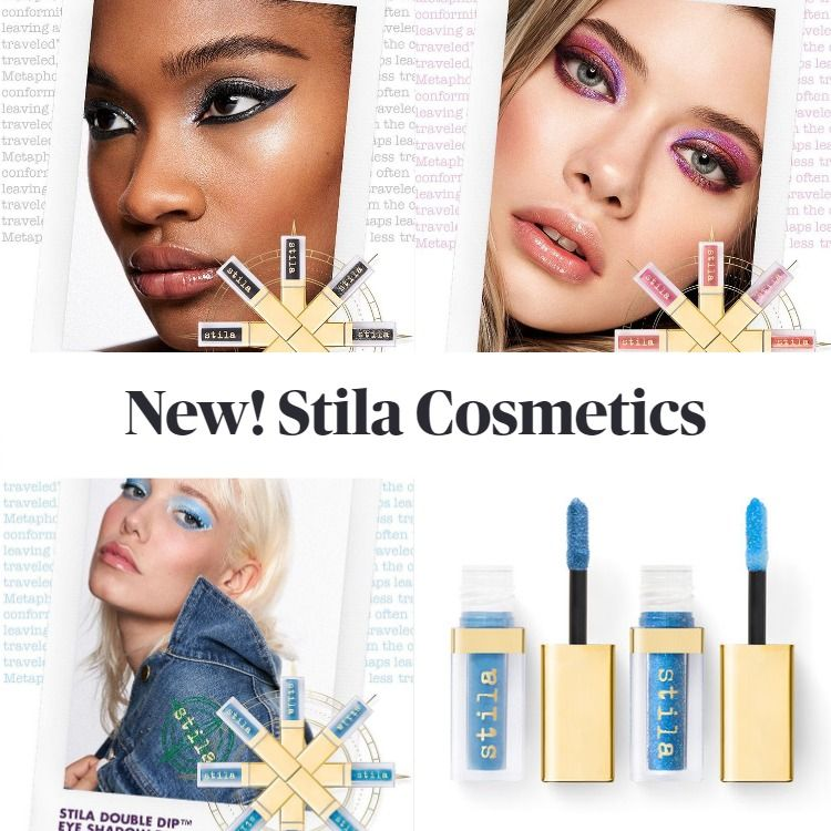 New! Stila Double Dip™ Suede Shade™ & Glitter & Glow Liquid Eye Shadows