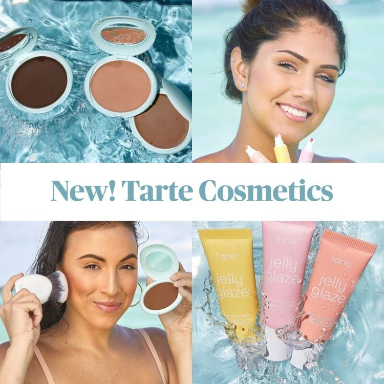 New! Tarte SEA Jelly Glaze Anytime Lip Mask and Breezy Cream Bronzer