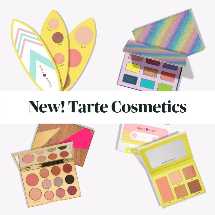 New! Tarte Sugar Rush Eye & Cheek Palettes Summer 2020 Collection