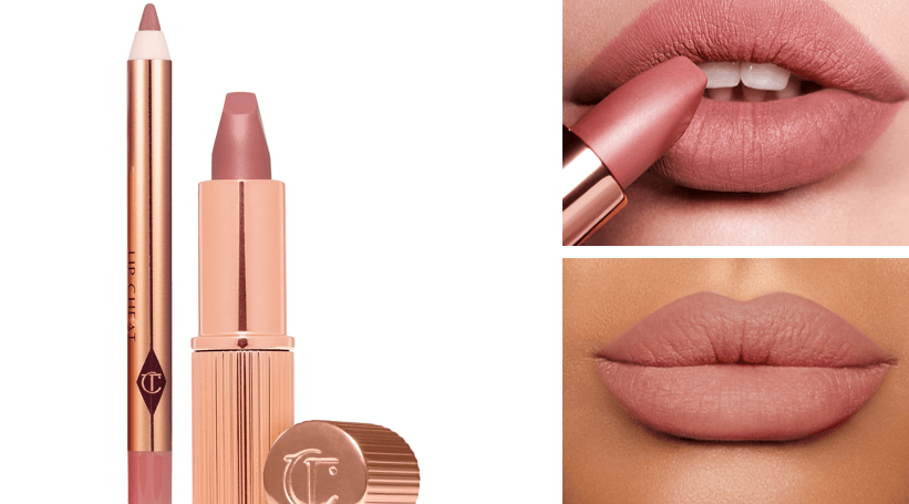 NEW - Max and More Lipstick and Lip Liner Set Ultimate Nude