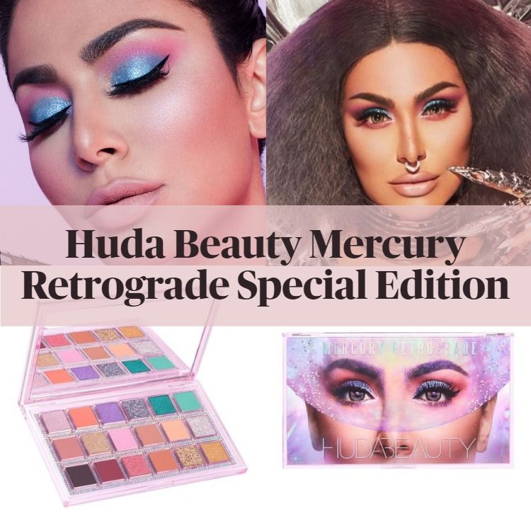 New! Limited Edition Huda Beauty Mercury Retrograde Special Edition with Crystals