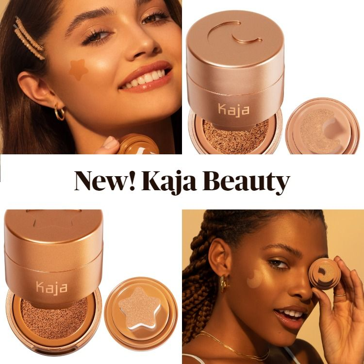 New! Kaja Beauty Beachy Stamp Blendable Liquid Bronzer and Glowy Stamp Liquid Highlighter