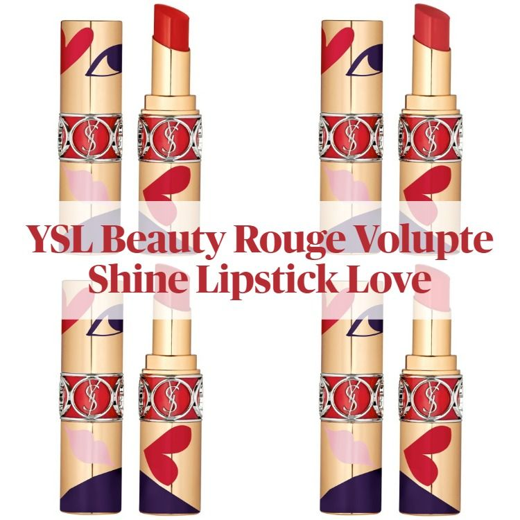 New! Yves St Laurent Rouge Volupte Shine Lipstick Love Collector's Edition