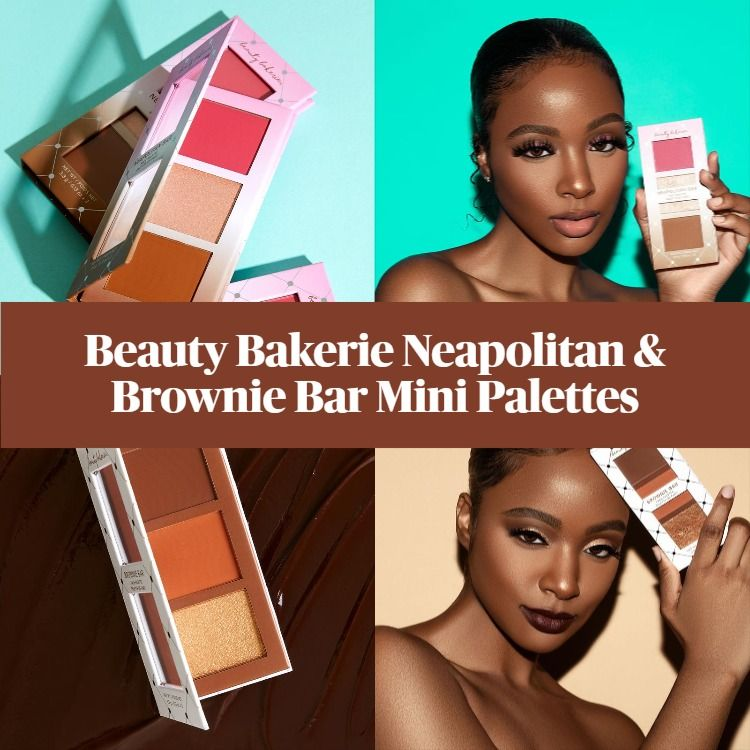 New! Beauty Bakerie Neapolitan and Brownie Bar Mini Palettes