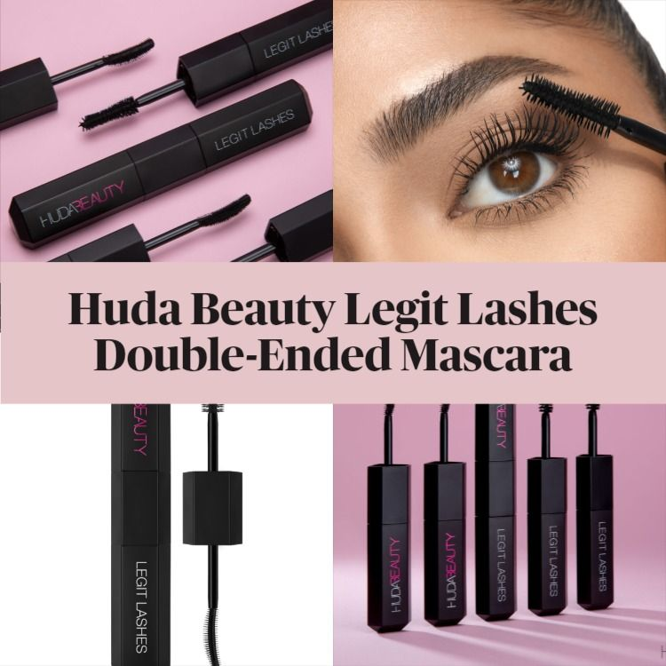 Get The Scoop On The New Huda Beauty Legit Lashes Double-Ended Mascara