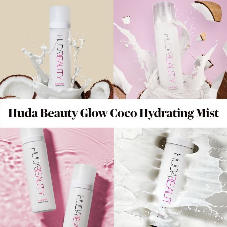 New! Huda Beauty Glow Coco Hydrating Mist