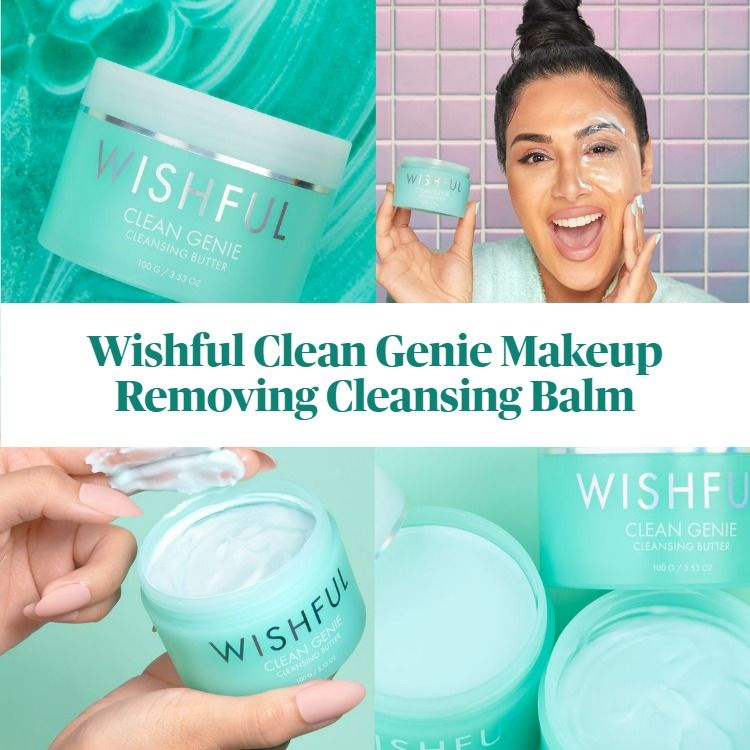 New! Wishful Skin By Huda Beauty Clean Genie Makeup Removing Cleansing Balm