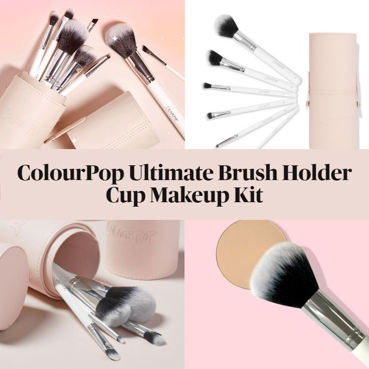 New! ColourPop Ultimate Brush Holder Cup Makeup Kit