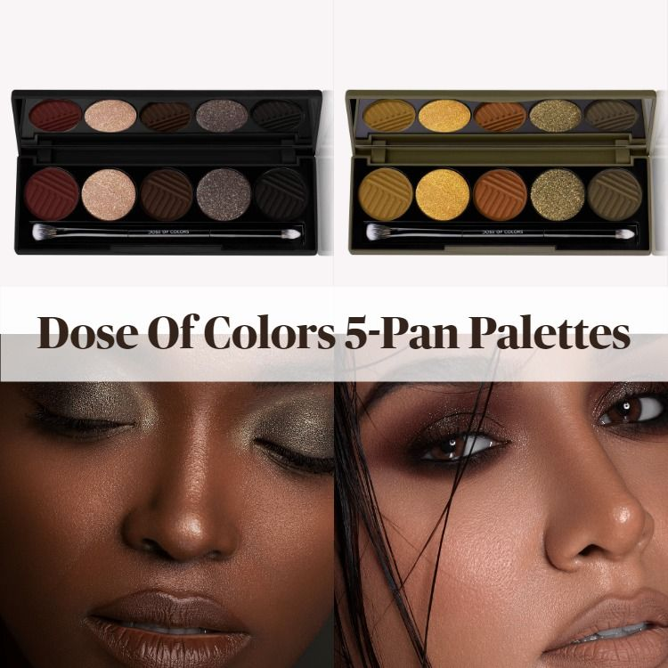 New! Dose Of Colors 5-Pan Monochromatic Eyeshadow Palettes - Introducing Cutting Edge And Smokey Soiree