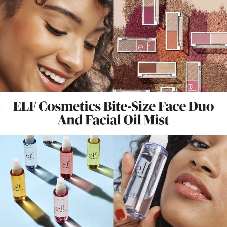 New! ELF Cosmetics Bite-Size Face Duo And Facial Oil Mist
