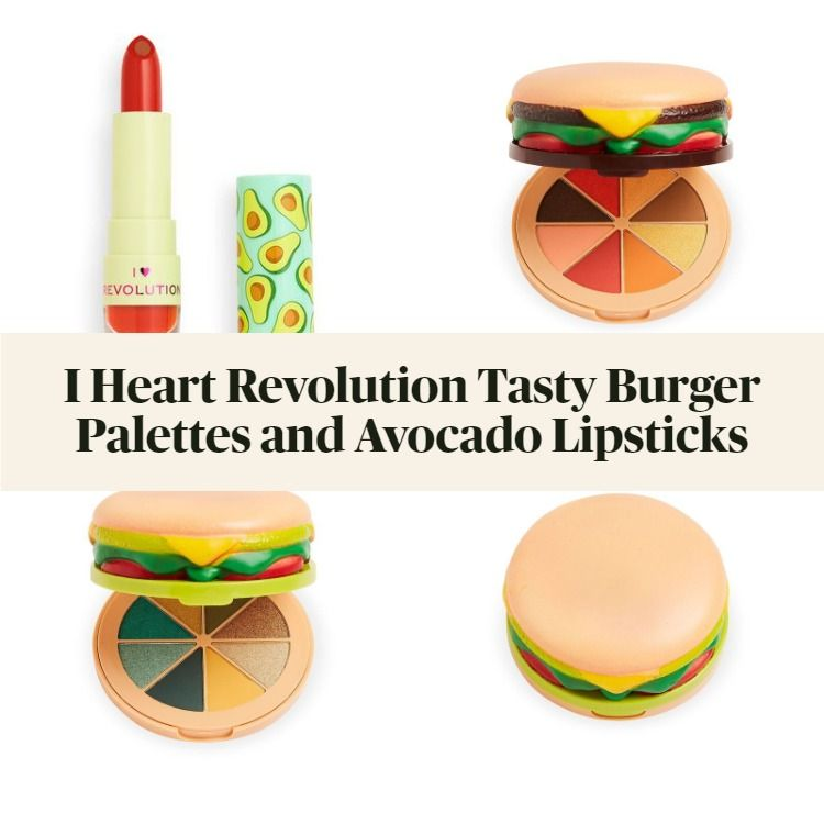 New! I Heart Revolution Tasty Burger Palettes and Avocado Lipsticks
