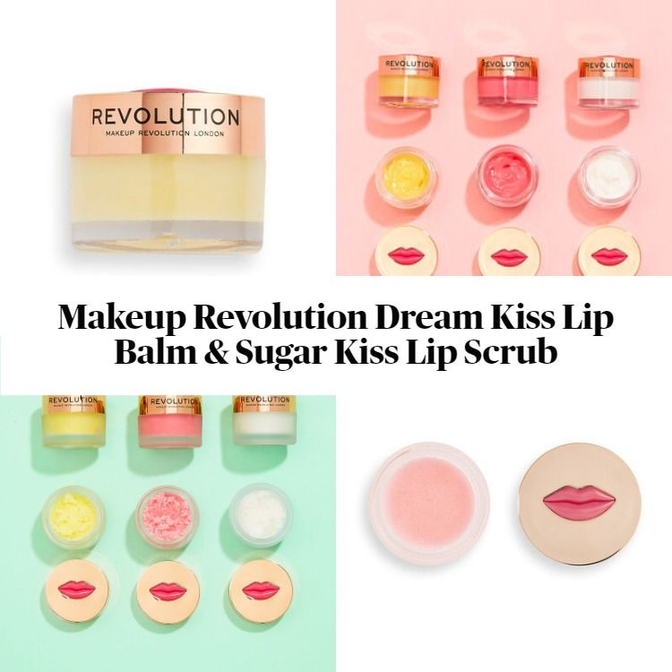 New! Makeup Revolution Dream Kiss Lip Balm & Sugar Kiss Lip Scrub