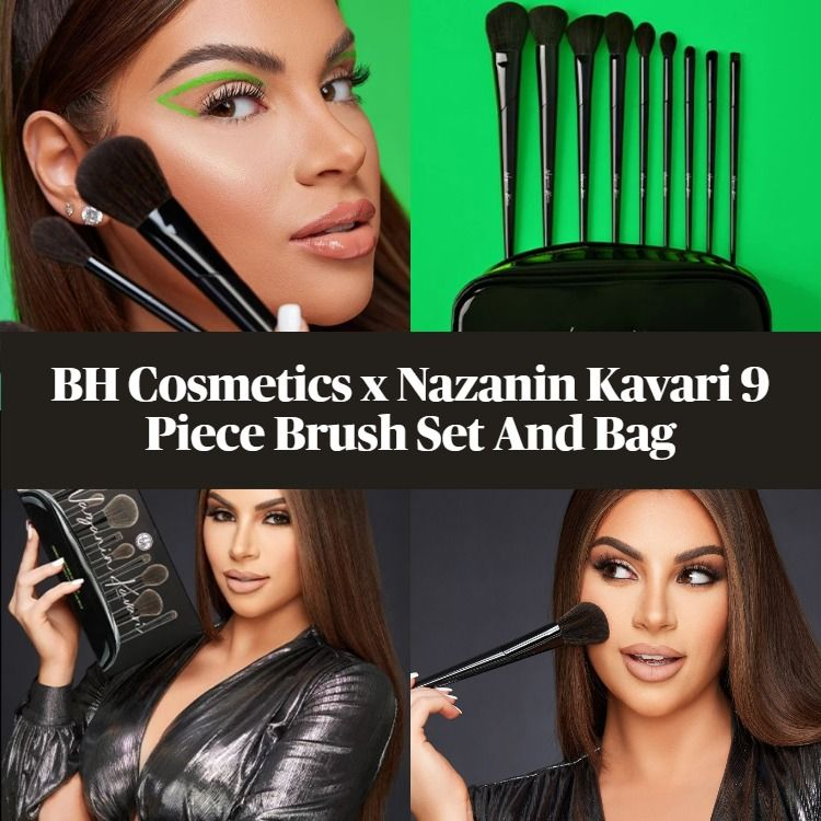 BH Cosmetics x Nazanin Kavari 9 Piece Brush Set And Bag