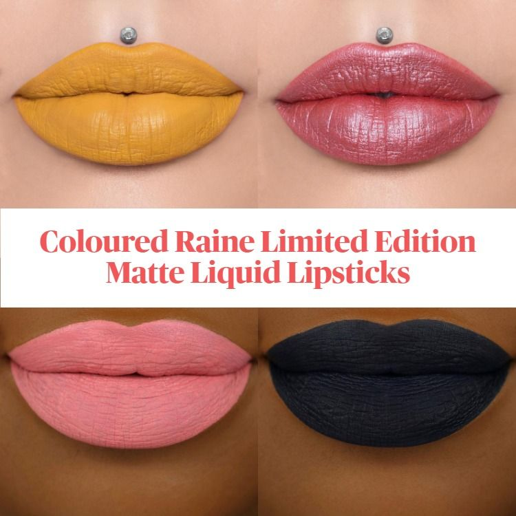 New! Coloured Raine Limited Edition Matte Liquid Lipsticks