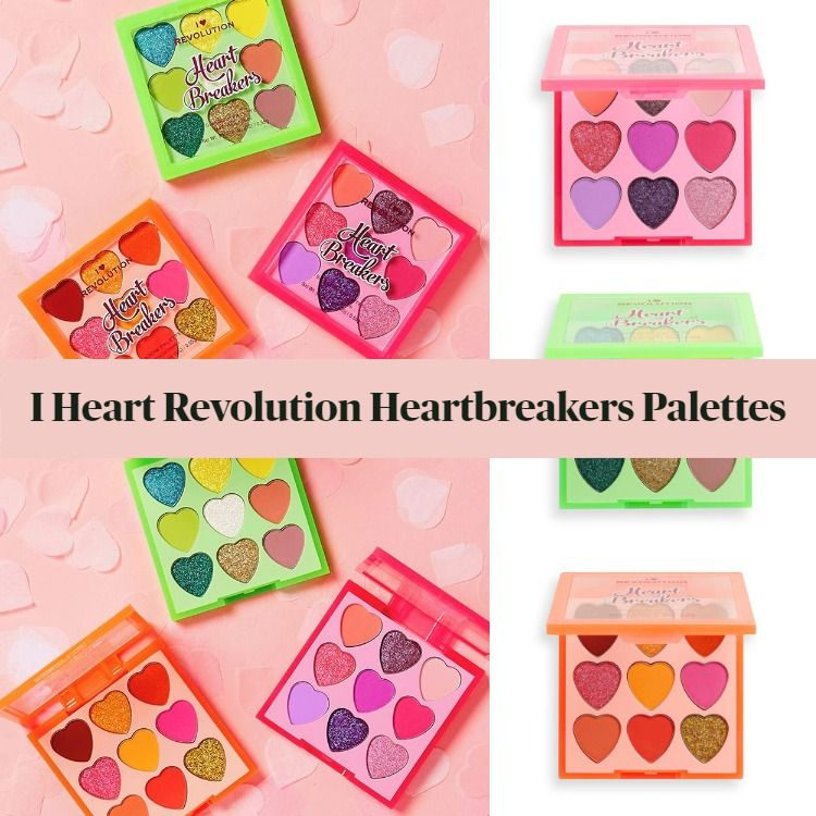 New! I Heart Revolution Heartbreakers Eyeshadow Palettes Fiery, Flourish, & Flamboyant