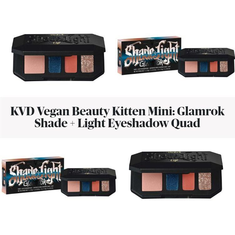 KVD Vegan Beauty Kitten Mini: Glamrok Shade + Light Eyeshadow Quad
