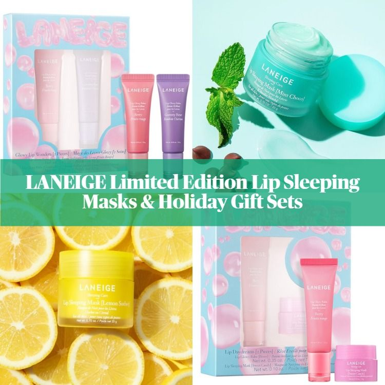 LANEIGE Limited Edition Lip Sleeping Masks & Holiday Gift Sets