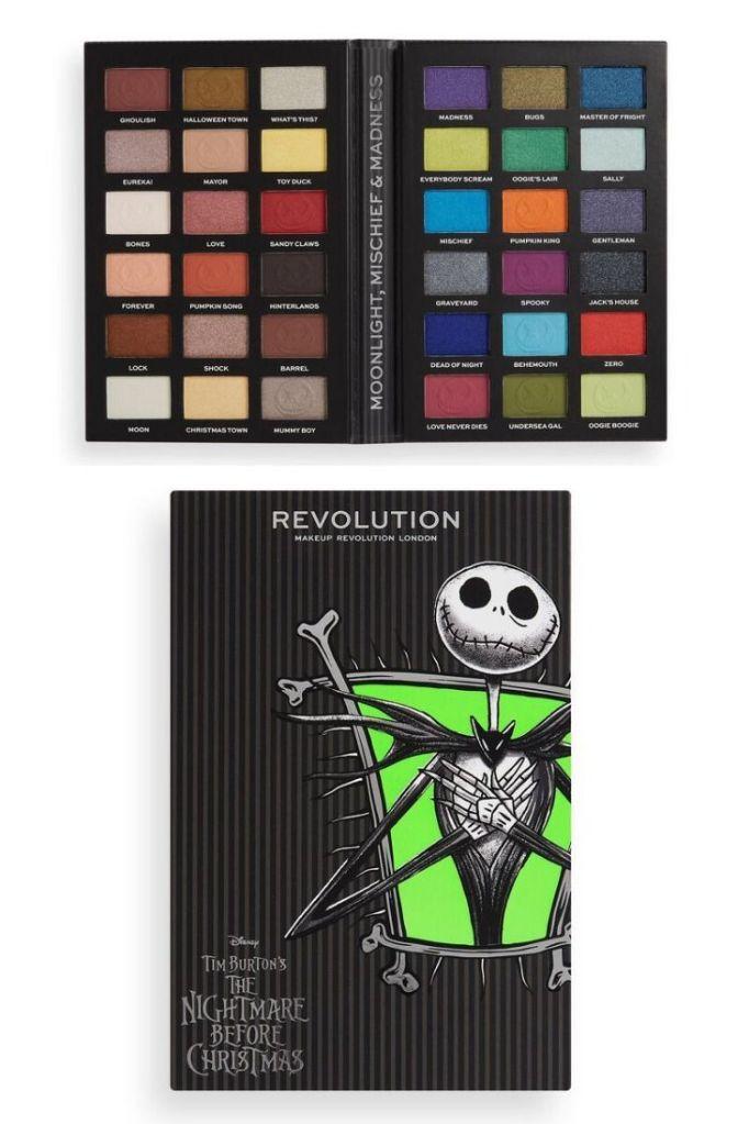 Disney Makeup Palette Christmas 2020 Sneak Peek! Makeup Revolution X Disney Nightmare Before Christmas