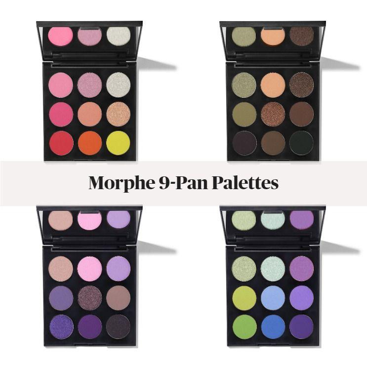 New! Morphe 9 Pan Artistry Palettes - 9C Color Me Cool, 9K Khaki Calling, 9L Lavendaze, & 9H Hot For Hue