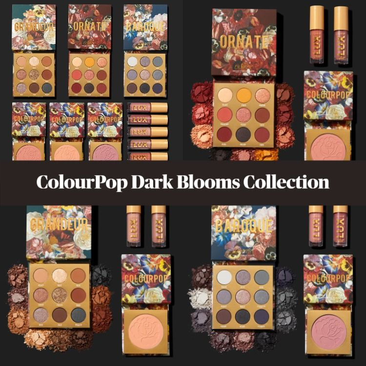 Sneak Peek! ColourPop Dark Blooms Collection