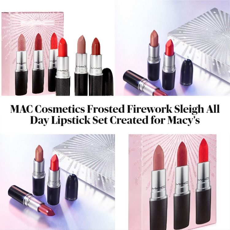 MAC Cosmetics Frosted Firework Sleigh All Day Lipstick Set Created for Macy's