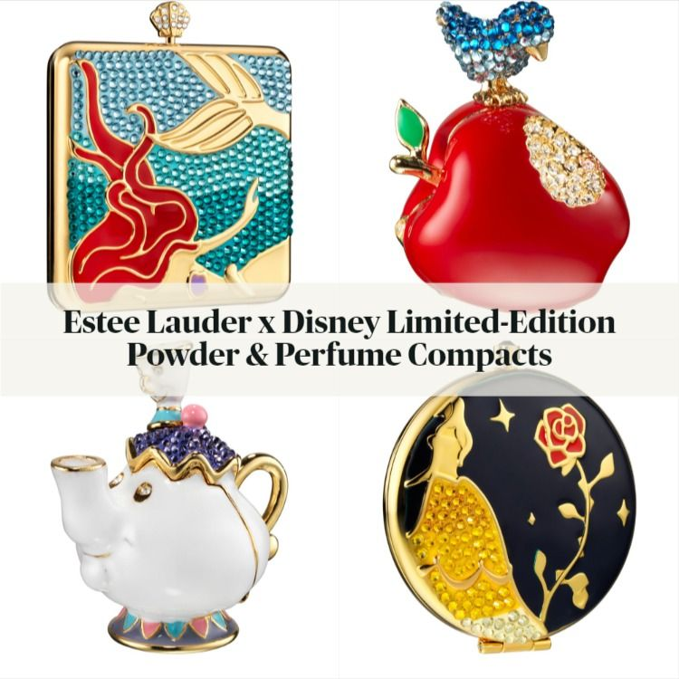 Estee Lauder x Disney Limited-Edition Holiday Powder & Perfume Compacts