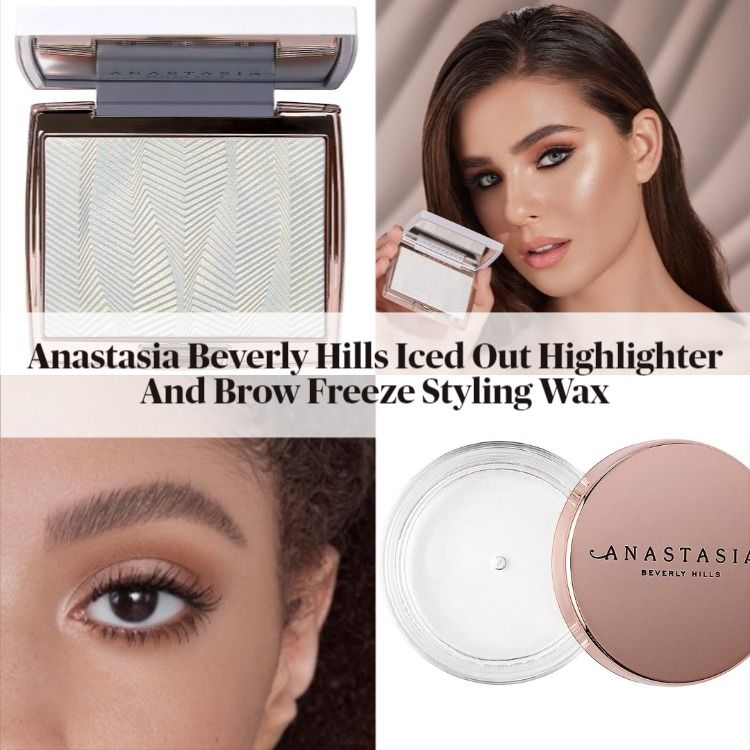 Anastasia Beverly Hills Iced Out Highlighter And Brow Freeze Styling Wax