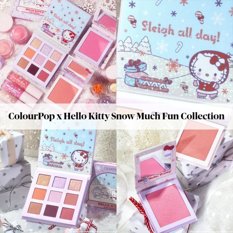 Sneak Peek! ColourPop x Hello Kitty Snow Much Fun 2020 Collection - Updated!