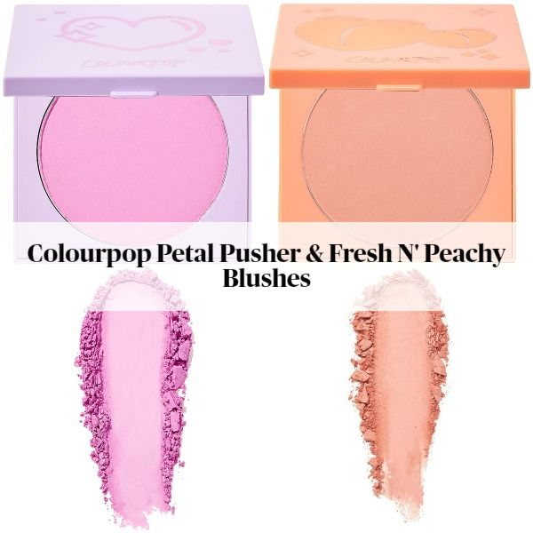 Colourpop Petal Pusher & Fresh N' Peachy Blushes plus Talk To The Palm Bronzer